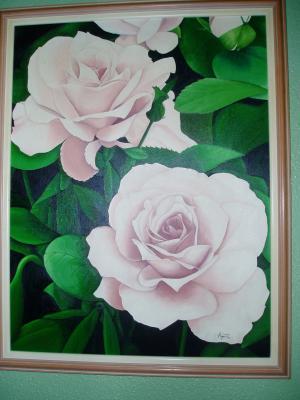 dos rosas rosas